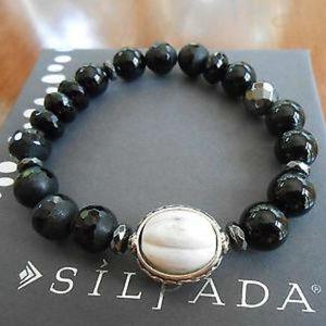 B3169 Silpada BLACKBOARD Stretch Bracelet (b)